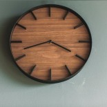 Rin Wall Clock (Black) - Yamazaki