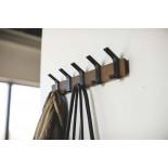 Rin Wall Coat Rack (Walnut / Black) - Yamazaki