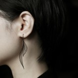 Ripple Earrings M (Black) - Moorigin