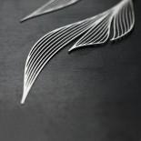 Ripple Earrings M (Silver) - Moorigin
