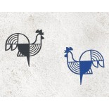Rooster Metal Wall Decor / Wall Art (Blue) - A Future Perfect