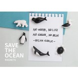 Save The Ocean Magnets (Set of 6) - Qualy