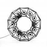 Multilamp Ring Hanging Lamp (Black) - Seletti