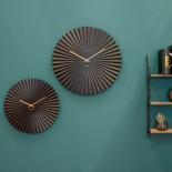 Sensu Wall Clock Steel (Black) - Karlsson