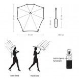 Automatic Storm Umbrella Silk Grey - Senz°