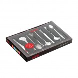 Set of 8 Assorted Coffee / Tea Spoons (Stainless Steel) - Alessi