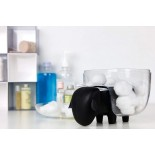 Sheepshape Container Jr. (Clear-Black) - Qualy