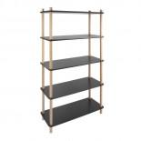 Simplicity Bamboo Shelving Unit (Natural / Black) - Leitmotiv