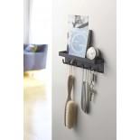 Smart Magnetic Key Rack with Tray (Black) - Yamazaki
