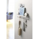 Smart Magnetic Key Rack with Tray (White) - Yamazaki