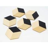 Table Tiles Set of 6 (Black / Beige) - Areaware