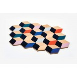 Table Tiles Set of 6 (Multicolor) - Areaware