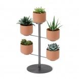 Terrapotta Tabletop Planter (Terracotta / Titanium) - Umbra