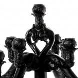 The No Evil Monkeys Giant Burlesque Chandelier (Black) - Seletti