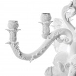 The No Evil Monkeys Giant Burlesque Chandelier (White) - Seletti