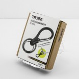 Times Three Keyring with Carabiner Clip (Black) - Troika