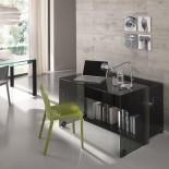 Server Glass Console Writing Desk - Tonelli Design
