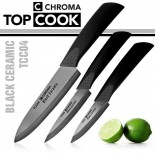 Top Cook Set of 3 Ceramic Knives - CHROMA