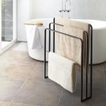 Tower Bath Towel Hanger With 3 Bars (Black) - Yamazaki