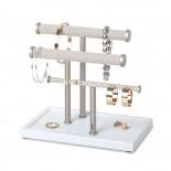 Trigem Bracelet & Earring Bar (White/ Nickel) - Umbra