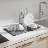 Udry Over the Sink Dish Rack & Drying Mat (Charcoal) - Umbra
