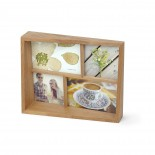 Edge Multi Desk Photo Frame (Natural Wood) - Umbra