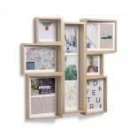Edge Multi Wall Photo Display (Natural Wood) - Umbra