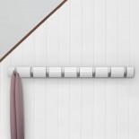 FLIP 8 Hook Coat Rack (White) - Umbra
