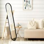 Hub Floor Mirror & Clothes Stand (Black / Natural) - Umbra