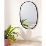 Hub Wall Mirror Oval 91 x 61 cm (Black) - Umbra