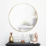 Hubba Wall Mirror 86 cm (Brass) - Umbra