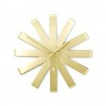 Ribbon Wall Clock (Brass) - Umbra