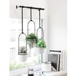 Triflora Hanging Planter (White / Black) - Umbra