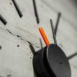 Urchin Wall Clock (Black/Orange) - KLOX