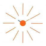 Urchin Wall Clock (Orange/Grey) - KLOX
