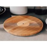 Vinyl Record Cutting Board 30 cm. (Bamboo)