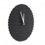 Wave Wall Clock (Black / White) – Sabrina Fossi Design