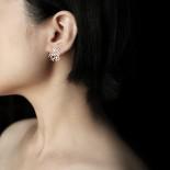 Weathered Rock Earrings XS (Silver) - Moorigin