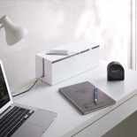 Web Cable Box Organizer (White) - Yamazaki