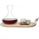 Wine Carafe 1.4L & Oak Cheese Board Set - LSA