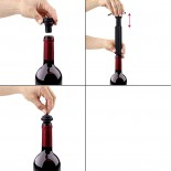 Wine Pump Set with 2 Stoppers (Black) - Versa