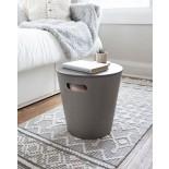 Woodrow Storage Stool (Grey) - Umbra