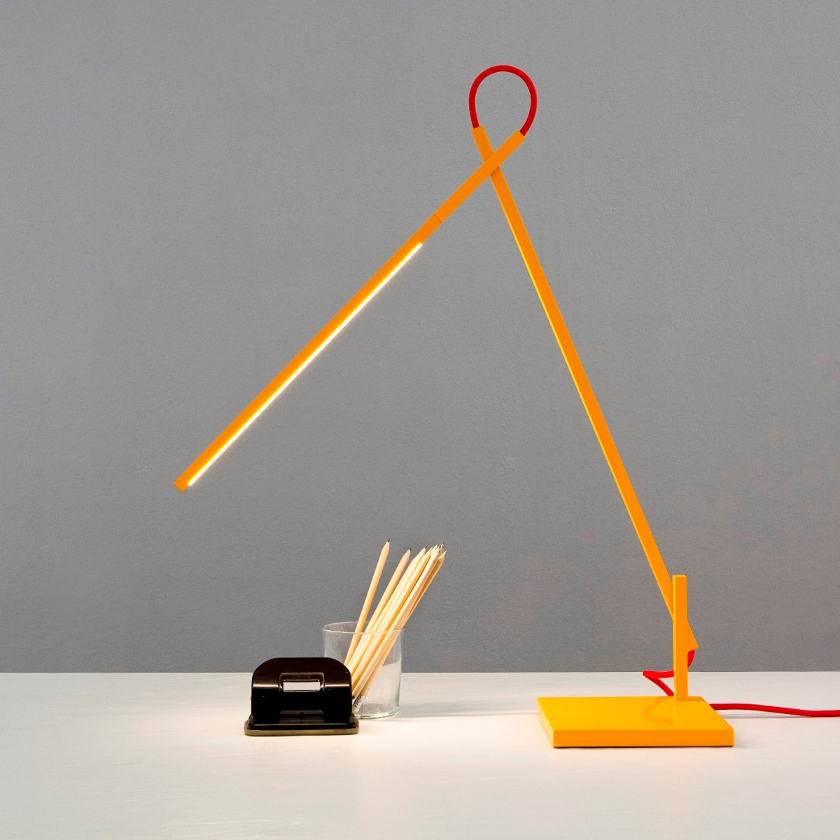 Shibui Linelight Led Desk Lamp Yellow Design Is This
