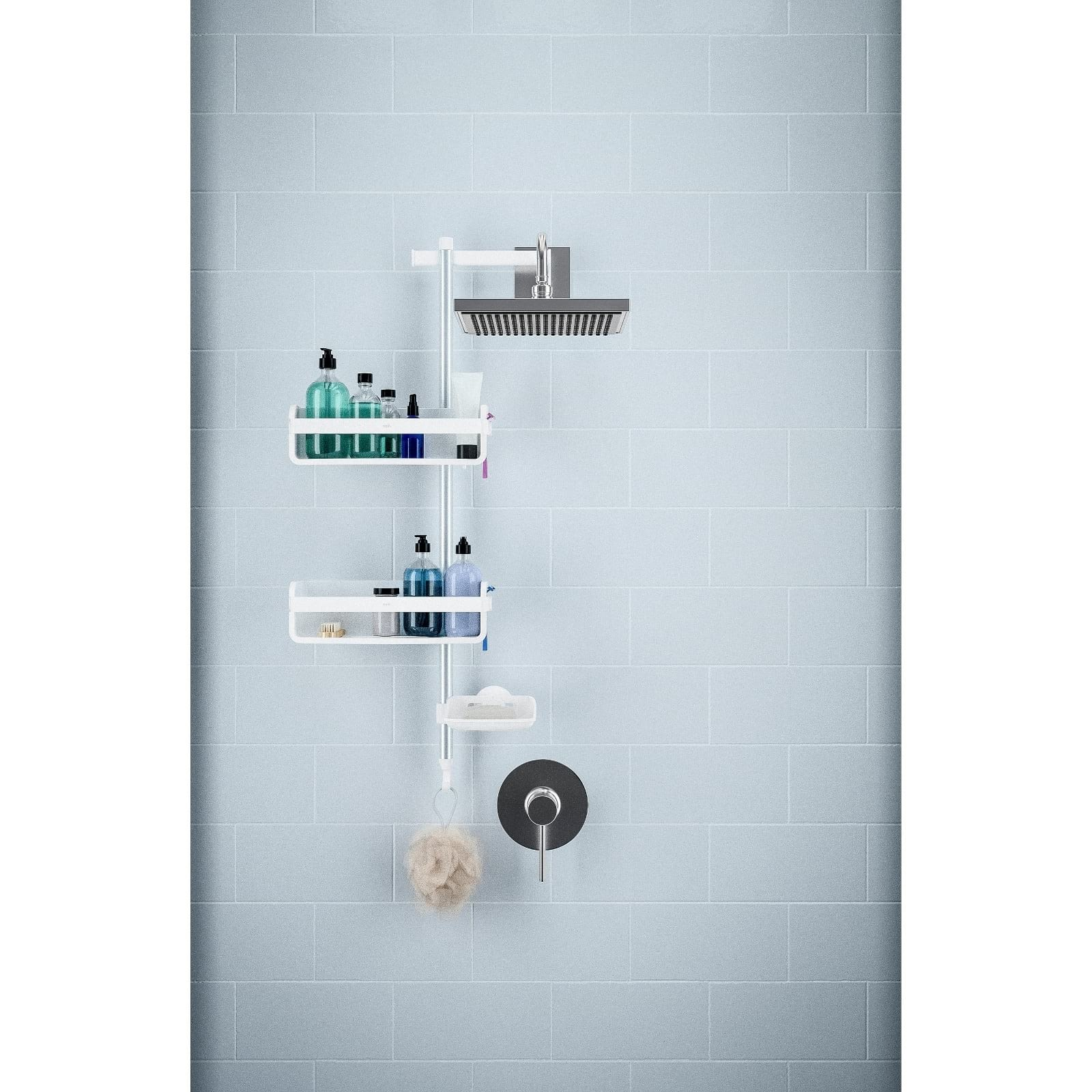 Umbra Flipside Pole Shower Caddy | Design Is This