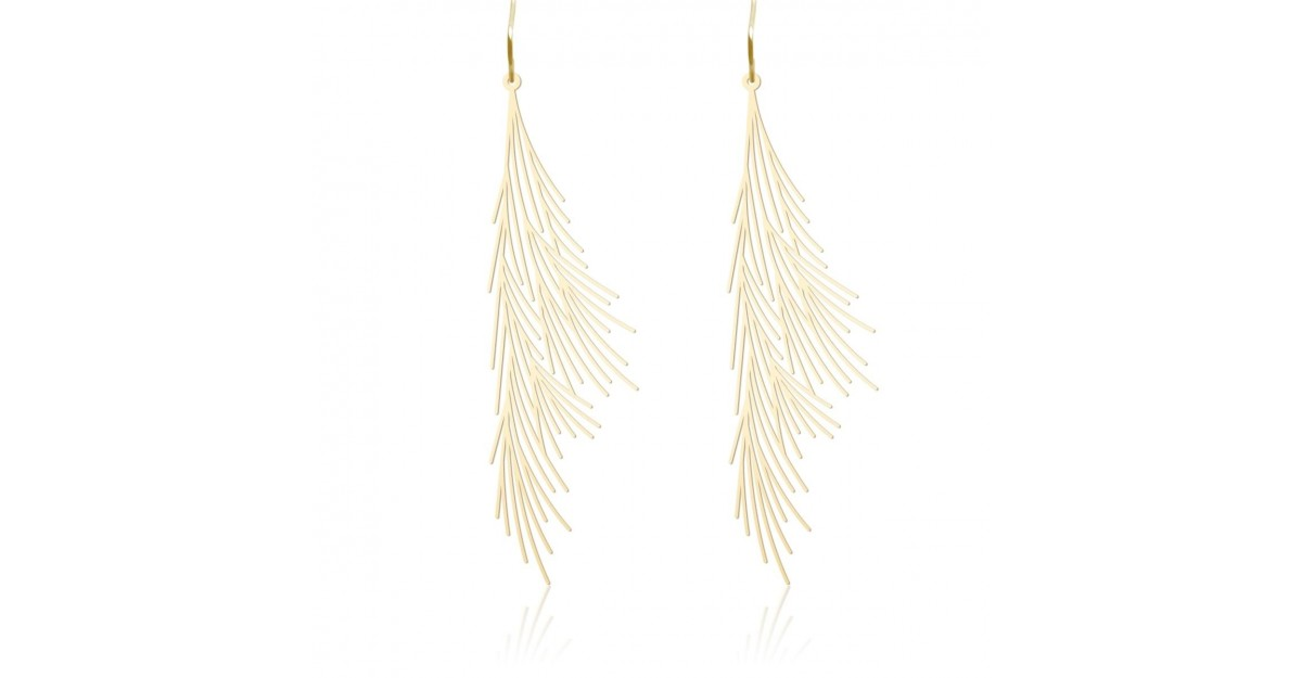 Moorigin Common Reed Earrings M Gold Design Is This